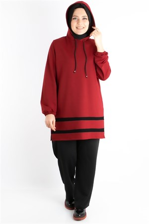 Plus Size Tracksuits Claret Red FHM773