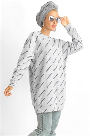 Tunic - Two Thread Cotton - Unlined - Crew Neck - Grey - LR706