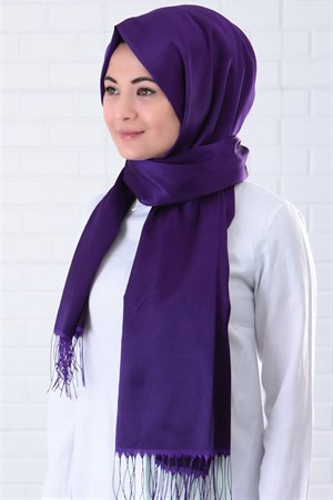 Shawl - Polyviscon - Purple - SAL01