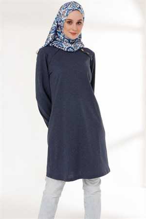 Tunic - Button - Indigo Blue - TN266 - 5424002