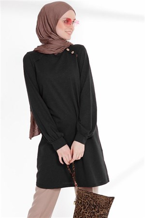 Tunic - Button - Black - TN266 - 5424002