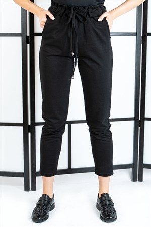 Pants - Pocketed - Black - TN308