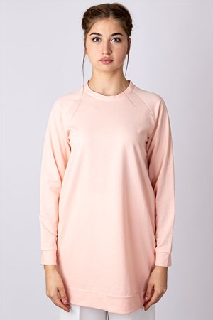 Tunic - Poly Cotton - Unlined - Crew Neck - Powder - TN310