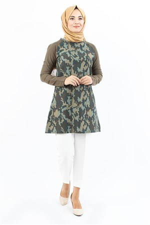 Tunic - Two - Thread -  Cycling - Collar - Camouflage - Pattern - TN316 - 3114023