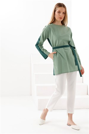 Two - Color - Tunic - Mint - Emerald - TN340
