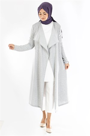 Cardigan - Two Thread Cotton - Shawl Collar - Unlined  - Grey - TN342